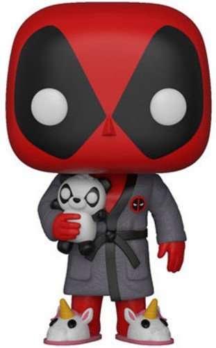 Funko Pop Marvel Playtime Deadpool in Robe Collectible Figure, Multicolor