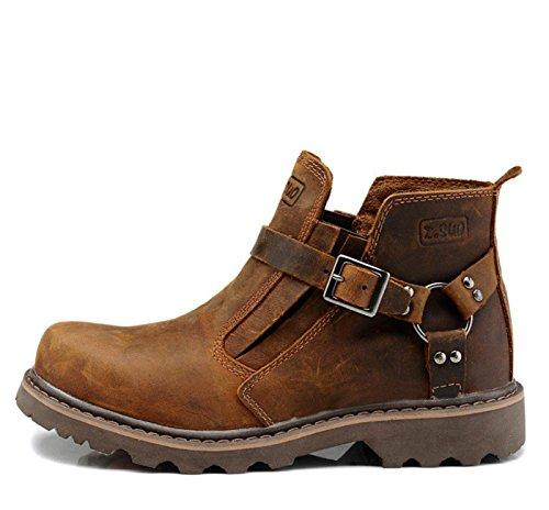 Boot Fashion Marrone Leather Comfortable Boot Ankle Man Retro Elegant 39 ZRwqw