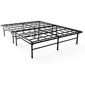 mattress foundation for big tall extra strong support platform bed frame box spring replacement sturdy quiet noise free non slip twin