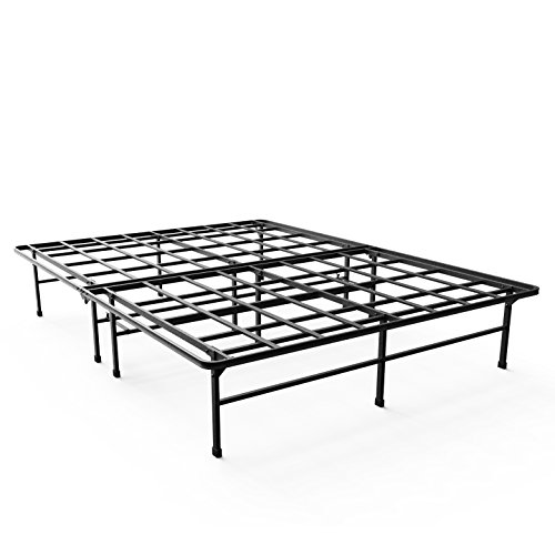 Zinus 14 Inch Elite SmartBase Mattress Foundation/for Big & Tall/Extra Strong Support/Platform Bed Frame/Box Spring Replacement/Sturdy/Quiet Noise Free/Non-Slip, Queen - Tall Storage Platform Bed