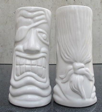 Tiki Mug Cocktailbecher 'Der Kapitä n' Keramik graphit matt Lumetheus