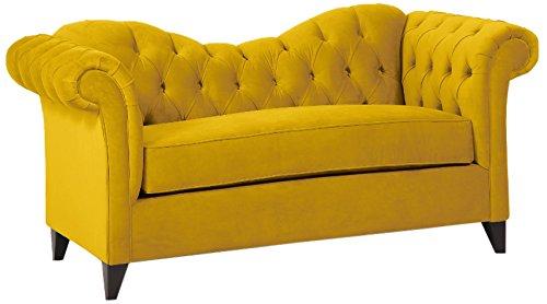Loni M. Designs Ginger Settee, Yellow