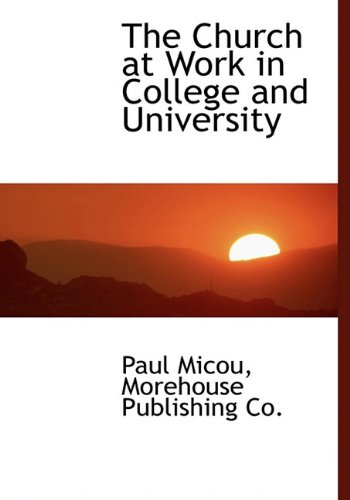 The Church at Work in College and University ebook