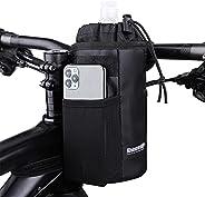 Bike Water Bottle Holder Bag - ELCM Bike Cup Holder with Storage Pocket Bike Phone Mount for Bike Bicycle Moto