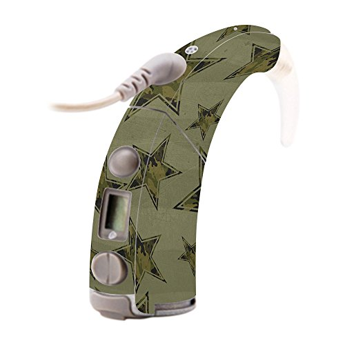Freedom Army Star - MightySkins Skin for Cochlear Nucleus Freedom - Army Star Protective, Durable, and Unique Vinyl Decal wrap cover | Easy To Apply, Remove, and Change Styles | Made in the USA