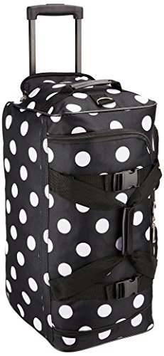 Rockland Luggage Rolling 22 Inch Duffle Bag, Black Dot, One Size
