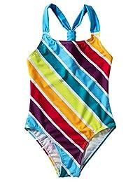 Happy Cherry One Piece Print Beach Swimsuit Adjustable Swimwear Bathing Suit