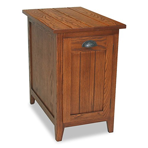 Leick Favorite Finds Bin Pull Cabinet End Table, Candle Glow ()