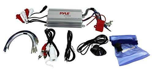 Series View Pyle (Pyle Hydra Marine Amplifier - Upgraded Elite Series 400 Watt 4 Channel Micro Amplifier - Waterproof, GAIN Level Controls, RCA Stereo Input, 3.5mm Jack, MP3 & Volume Control (PLMRMP3A))