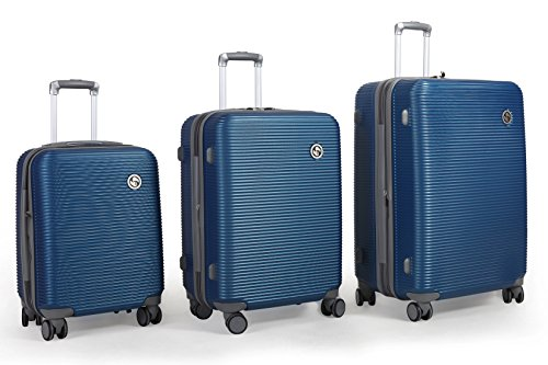 tassini-lightweight-hard-side-abs-3-piece-luggage-set-with-lock-checked-large-blue
