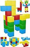 Intock Magnetic Blocks, 40 Pieces Set, 40 Pcs Magnetic Cubes, Assorted Colors, Innovative Design, Unlimited Imagination Magnetic Building Blocks For Kids, Autism Toys Magic Cube, Sensory Toys For Kids