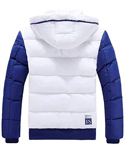 Giù Lato Caldo Intasca Con Cappotto Bianco Giacca Unico Uomini Cappuccio Outwear xCfn8wpq