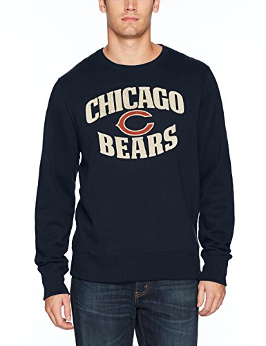NFL Chicago Bears Men's OTS Fleece Crew Distressed, Fall Navy, Large (Sweatshirt Fleece Bears)