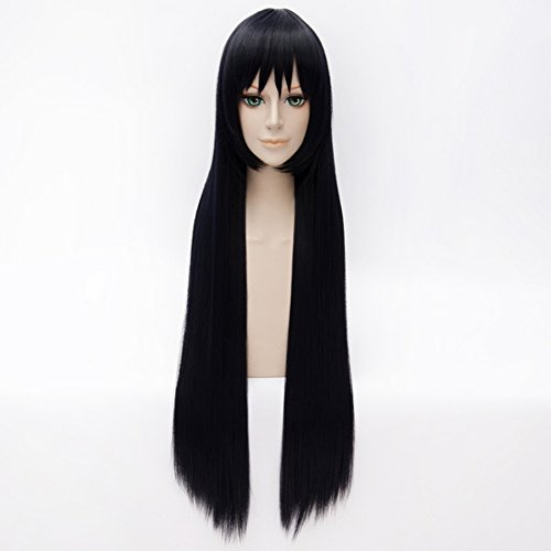 - Coolsky Long Straight Dark Blue Anime Costume Cosplay Sox Full Head Wigs