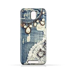AMC Design Lava Iris Fuel 50 TPU Silicone Case With Modern Jeans Pattern - Multi Color