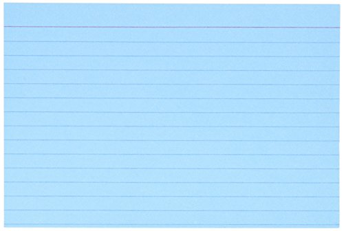 Recycled Oxford Color-Pack Index Cards, Ruled, 4