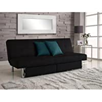 Sola Futon with Storage Bins, Black by CRB