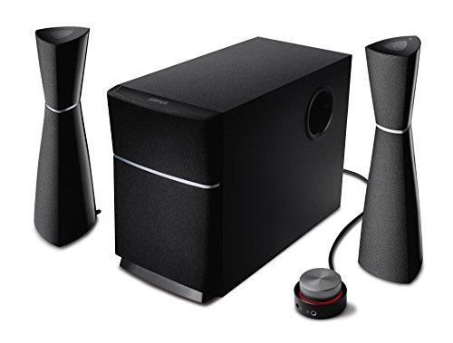 Edifier M3200BT 2.1 Bluetooth-Lautsprecher System/ pc-lautsprecher (34 Watt) mit NFC, Kabelfernbedienung für Fernsehen/PC/Notebook/Tablet/Smartphone