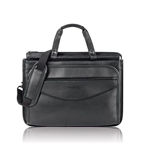 Solo Classic Collection Triple Compartment Portfolio, Carrying Case, Black ()