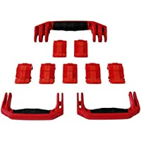 3 Red Replacement Handles / 7 Latches for Pelican 1650. Customize your Pelican 1650 Case.