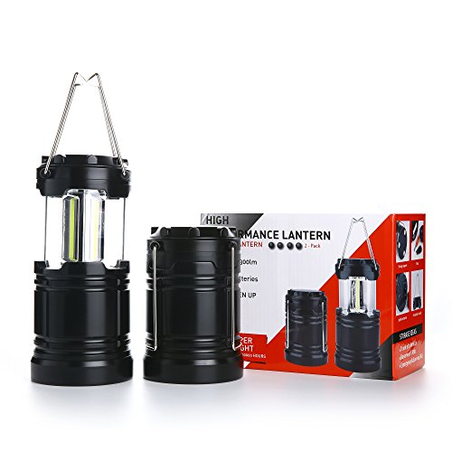 2 Pcs Military Grade Camping Lantern Tactical Lantern COB LED with Magnetic Base by Hisonde