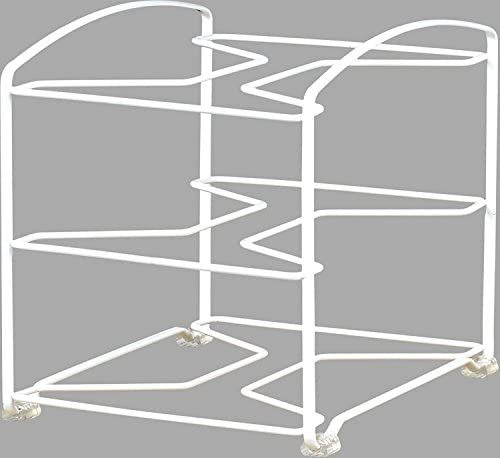 41jMT6uOfFL. AC SimpleHouseware Kitchen Wrap Organizer Rack, White    SimpleHouseware Kitchen Wrap Organizer Rack, White