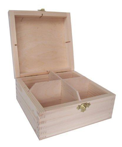 Amazon.com: Plain la madera/New Pecho Caja Bolsas de té (4 ...