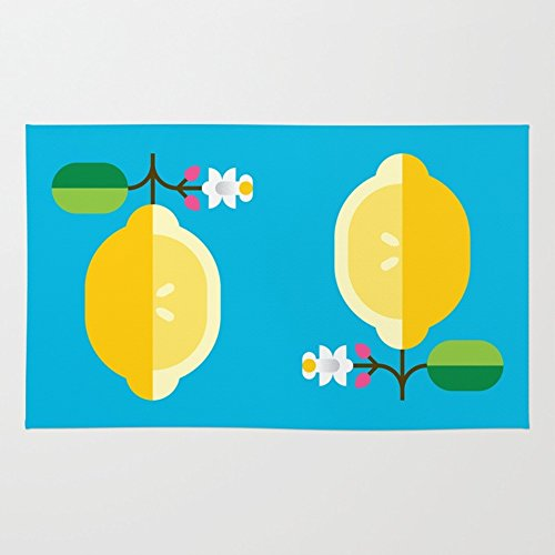 Society6 Fruit: Lemon Rug 4' x 6'