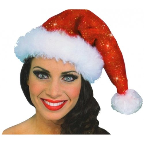Sparkle Santa Hat Costume Accessory