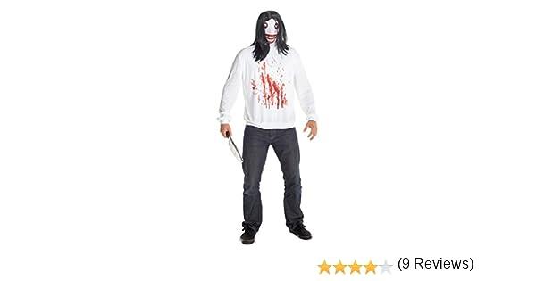 Jeff la Killer morphcostume disfraz – Talla única: Amazon.es ...