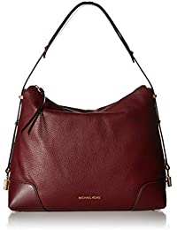 MICHAEL Michael Kors Womens Leather Crosby Large Shoulder Bag Red