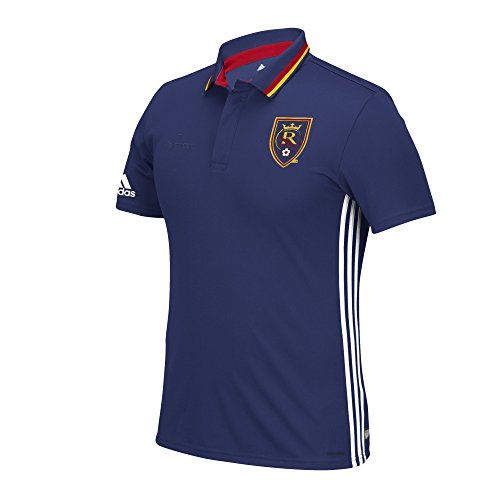 MLS Real Salt Lake Men's Sideline Team Color Polo, Large, Blue (Polo Sideline Adidas Shirt)