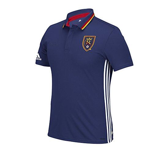 MLS Real Salt Lake Men's Sideline Team Color Polo, Large, Blue (Adidas Polo Shirt Sideline)