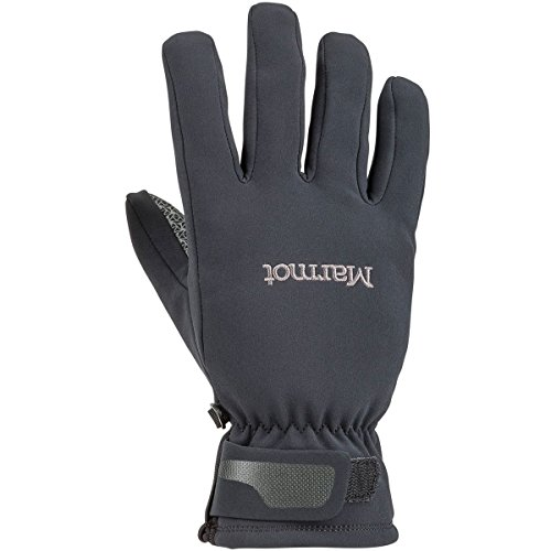 MARMOT MENS GLIDE SOFTSHELL GLOVE BLACK (MEDIUM) (Marmot Glide Soft Shell Gloves)
