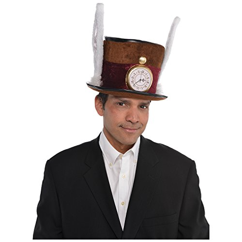 AMSCAN Mad Hatter Hat Deluxe Halloween Costume Accessories, One -