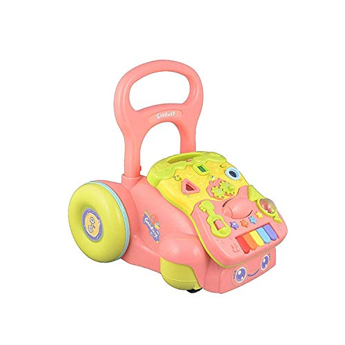 Smartcraft Baby Walker, Sit-to-Stand Activity Push and Pull Walker for Babies with Music, Lights and Adjustable Height