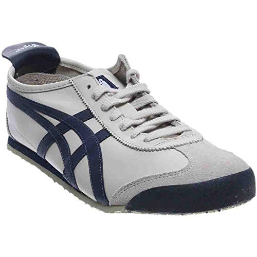 Onitsuka Tiger Mexico 66 Fashion Sneaker, Birch/India Ink/Latte, 12.5 M Men