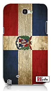 Distressed Look Dominican Republic National Flag Iphone 5 Quality TPU Soft Rubber Case for Iphone 5 - AT&T Sprint Verizon - White Case