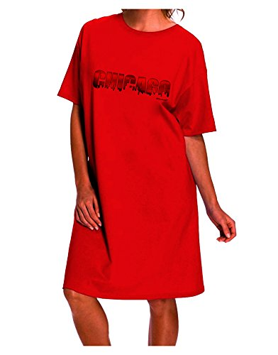 TooLoud Chicago Skyline Cutout - Sunset Sky Adult Night Shirt Dress - Red - One Size]()