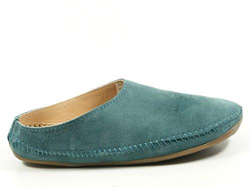 Haflinger 488023 Everest Softino Damen Herren Hausschuhe Pantoffeln Leder Grün