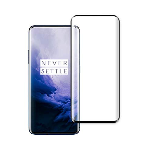 Prime Retail 3D Side Full Glue Coverage Tempered Glass for OnePlus 7 Pro (Black) – Pack of 2
