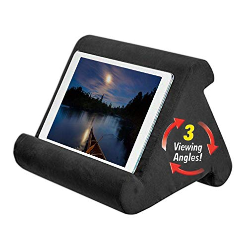 for iPad Tablet Stand Pillow Holder - Multi-Angle Soft Pillow Lap Stand for ipads, Tablets, eReaders, Smartphones, Books, Magazines