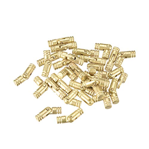 uxcell Folding Support Hidden Concealed Cylinder Hinge Brass Tone 5mm x 18mm 30pcs