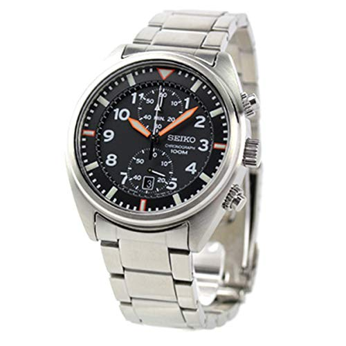 Seiko Men's Quartz Stainless Steel Casual Watch, Color:Silver-Toned (Model: SNN235
