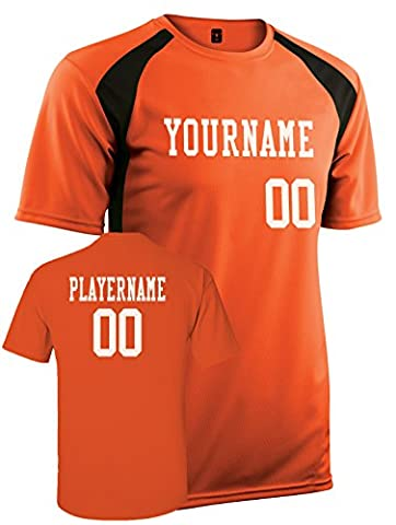 Adult Custom Jersey, Personalize with YOUR Names, Numbers and Colors (S)