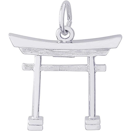 Japanese Tori Gate - Rembrandt Charms Japanese Tori Gate Charm, Sterling Silver