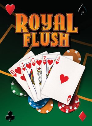 Man Cave Nostalgic Poker/Card Playing Metal Signs (Mike Patrick - Royal Flush)