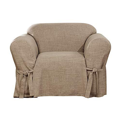 SureFit  Designer Linen One Piece Chair Slipcover, Sand