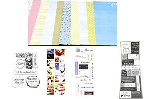 Wedding Scrapbook Kit - Scrapbooking Supplies, Wedding Scrapbook Stickers
