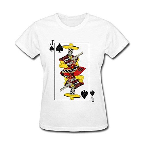 Women's Poker A J Q K King Joker Jcak Queen DIY Cotton Short Sleeve T Shirt